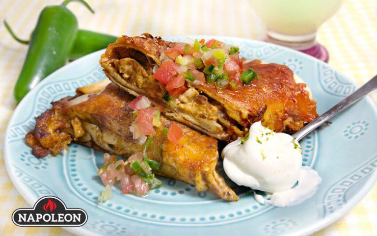 Poulet grillé Enchiladas