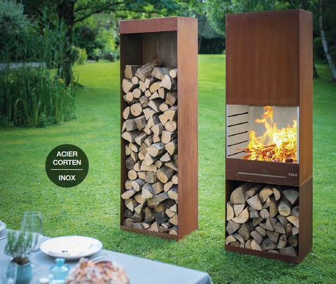 Tole barbecue-feu de jardin